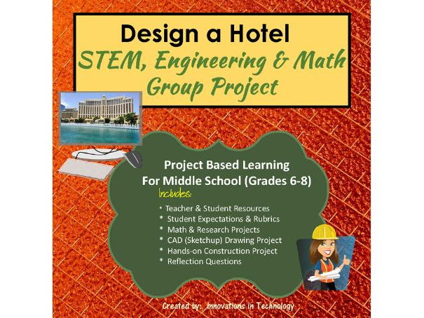 Design and Build a Hotel - STEM, Engineering and Math Group Project