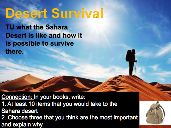 Lesson 5: Desert Survival