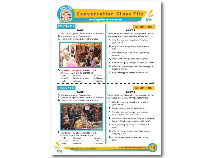 Shopping - ESL Conversation Activity