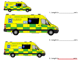 Measuring Length and Height Ambulance Worksheets and Smartboard