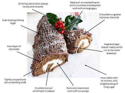 Christmas Yule Log - Visual recipe and festive technical challenge