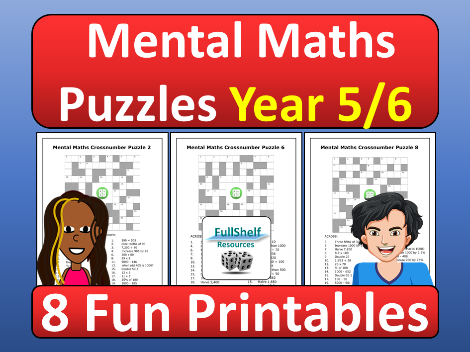 Mental Maths Worksheets Year 5 / 6