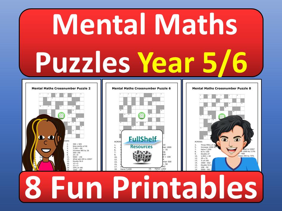 Mental Maths Worksheets Year 5 / 6 Teaching Resources