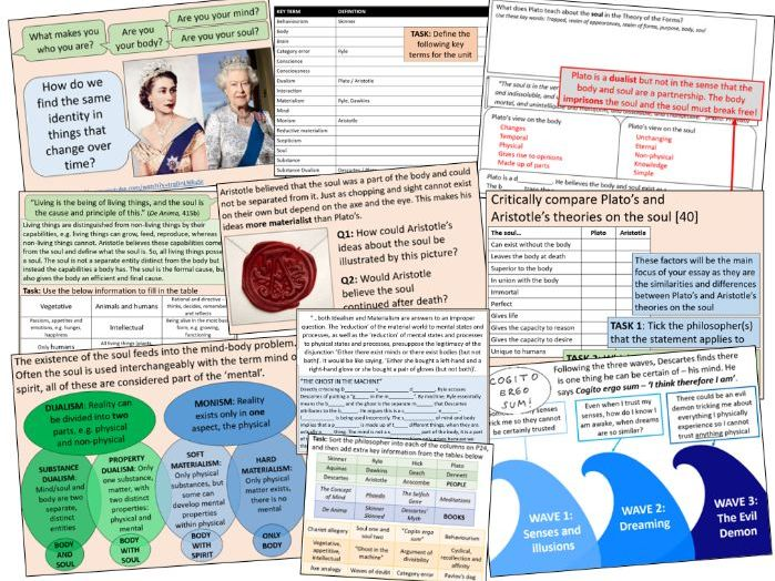 WHOLE UNIT! Soul, Mind and Body PowerPoint - OCR RS A-level Philosophy