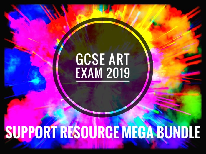 ART. GCSE ART EXAM 2019. Support Mega Bundle