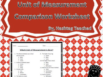 Best Unit of Measurement (choosing the most appropriate unit) Assessment