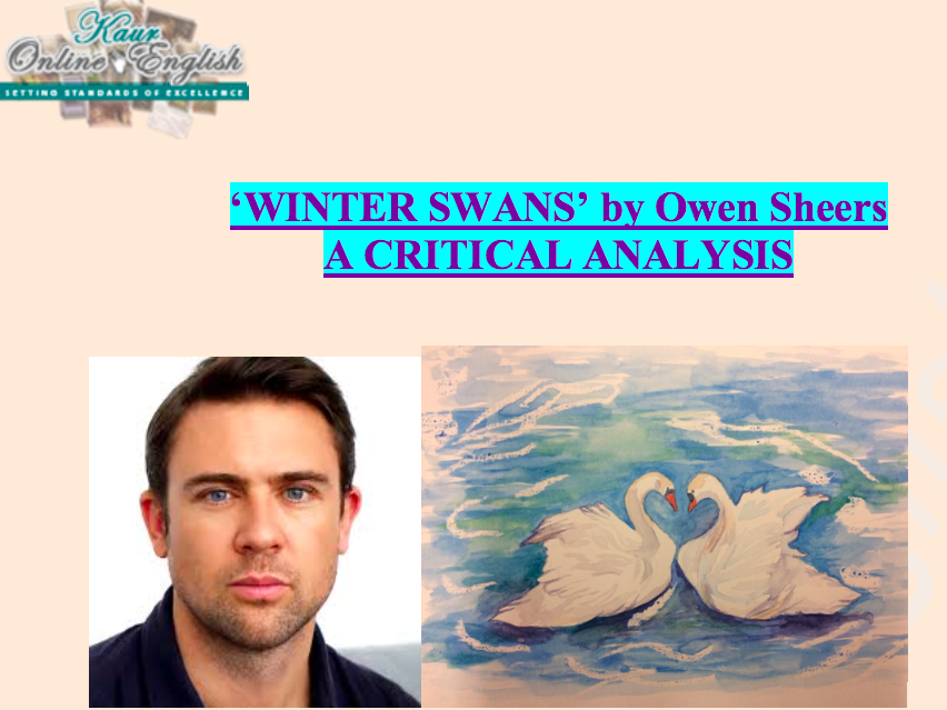 'Winter Swans'  A CRITICAL ANALYSIS