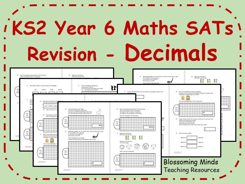 KS2 Year 6 Maths SATs - Decimals Revision