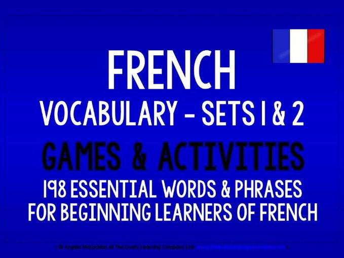 FRENCH VOCABULARY (1&2) - PRACTICE & REVISION - 198 WORDS & PHRASES
