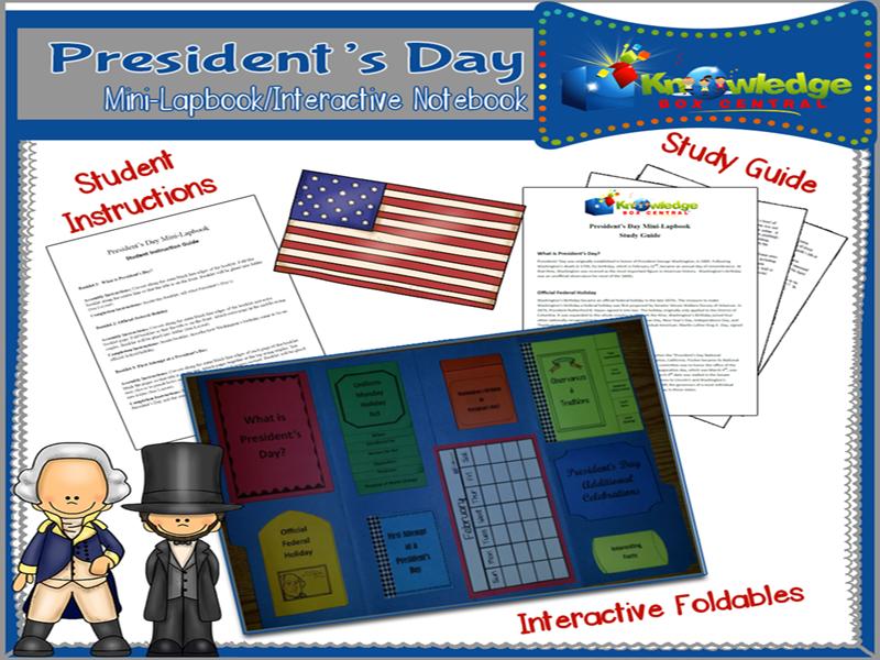 President's Day Mini-Lapbook