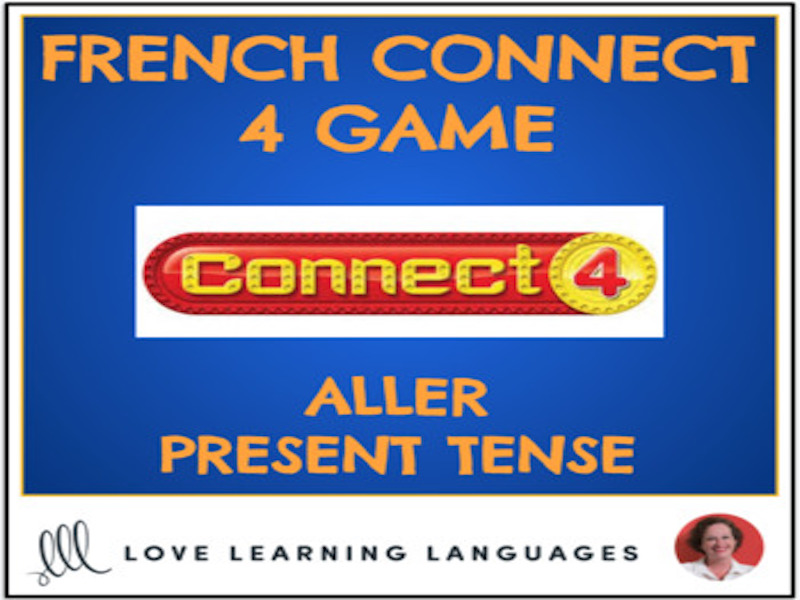 French Connect 4 Game - ALLER - Present Tense