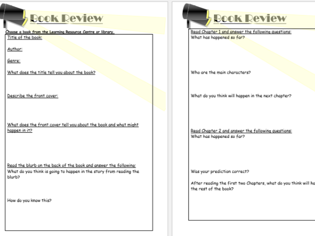 Reading book review very detailed original and two differentiated versions