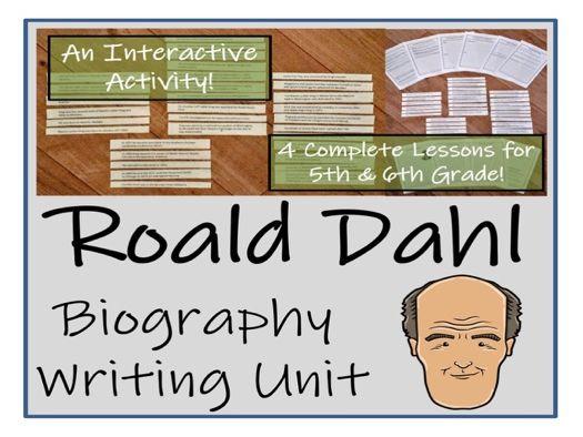 UKS2 Literacy - Roald Dahl Biography Writing Unit