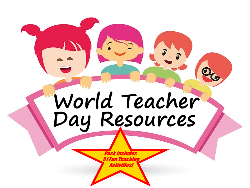 World Teachers' Day - Pictures of teachers in action + 31 Ideas About How To Use This Resource