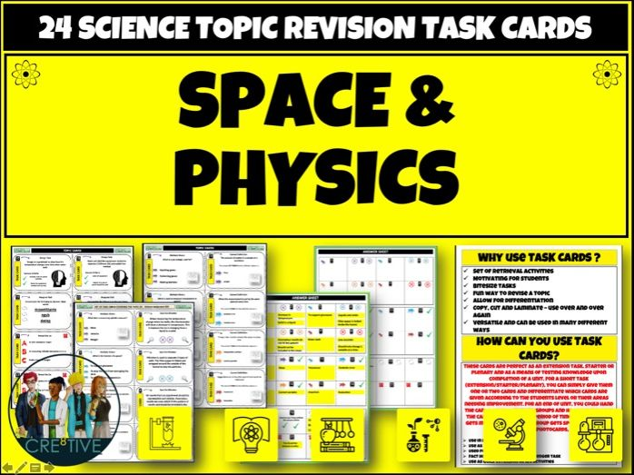 Space + Physics Task cards