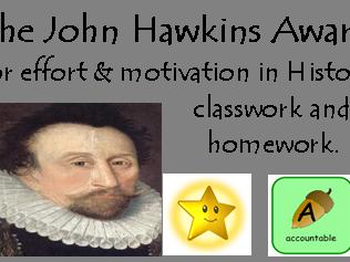 GCSE Early Elizabethan England reward stickers