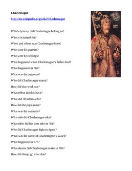 Charlemagne Webquest
