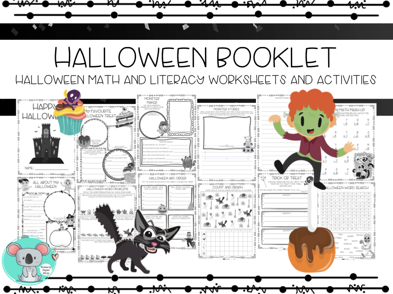 Halloween Booklet: Halloween Math And Literacy Worksheets And Activities