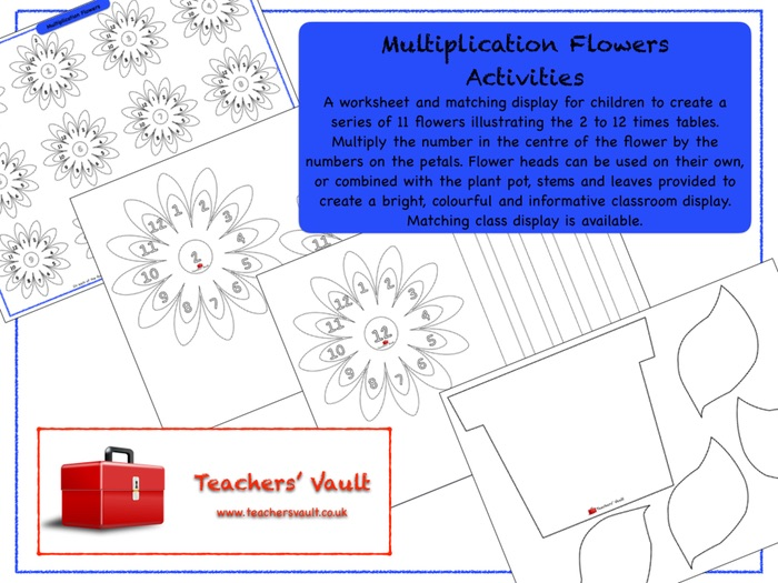 multiplication flowers activities by helenrachelcrossley