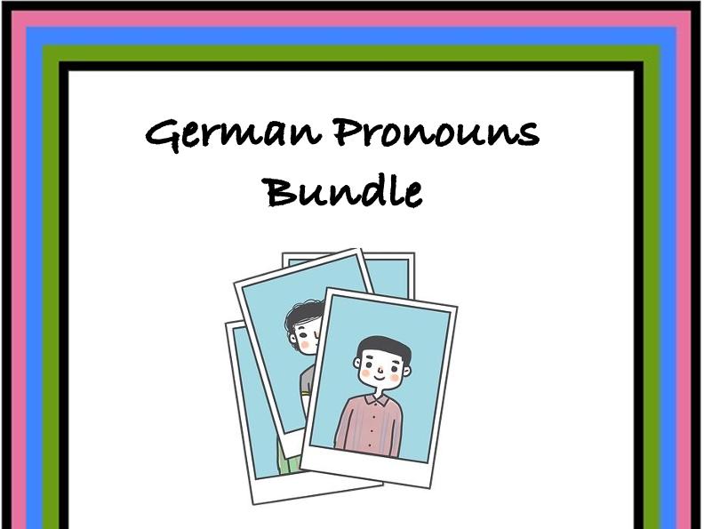 German Pronouns Bundle: Pronomen: TOP 5  Resources at 35% off!