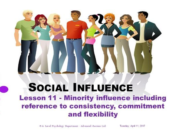 Powerpoint - Social Influence -  Lesson 11 - Minority influence