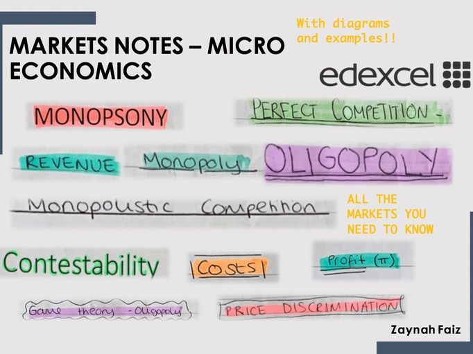 Micro Economics Markets Notes