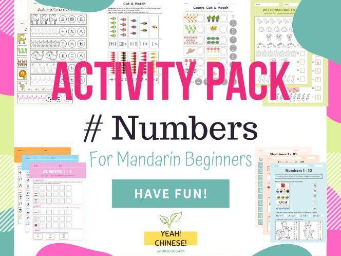 Numbers Activity Pack (Mandarin Chinese) - 数字