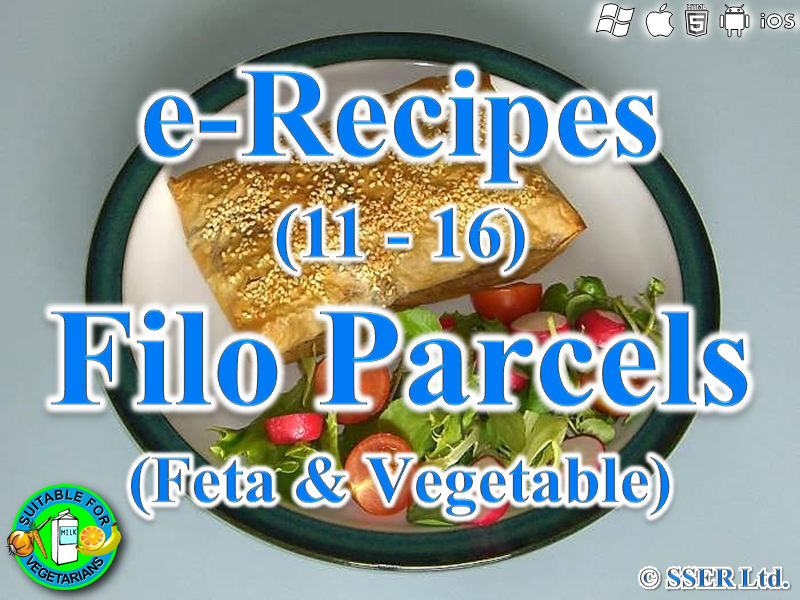 28.   Vegetable & Feta Filo Parcels (e-Recipe)
