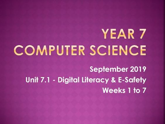 Computer Science: Digital Literacy [L7]