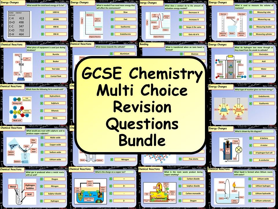 KS4 AQA GCSE Chemistry (Science) Multiple Choice Question Bundle