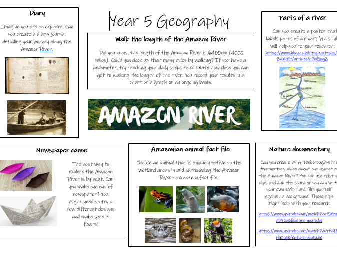 Year 5: Geography - The Amazon River