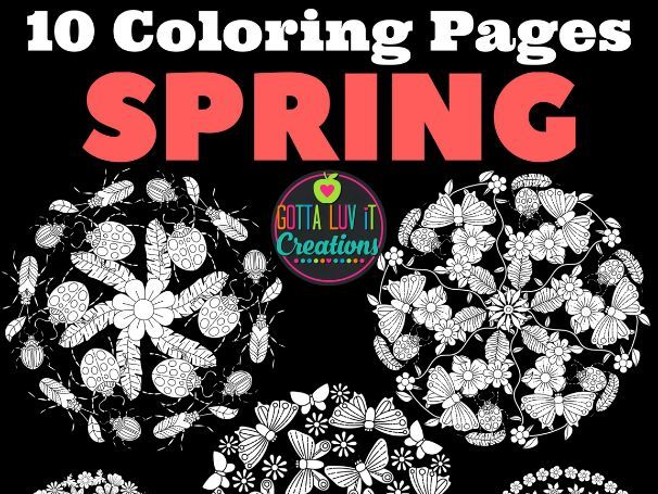 Coloring Pages 10 different Spring Mandala Designs Perfect for testing week