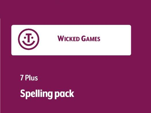 Spelling games pack - ideal for KS1 and 2