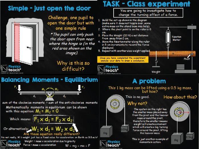 GCSE AQA Physics - Moments, Gear and Equilibrium