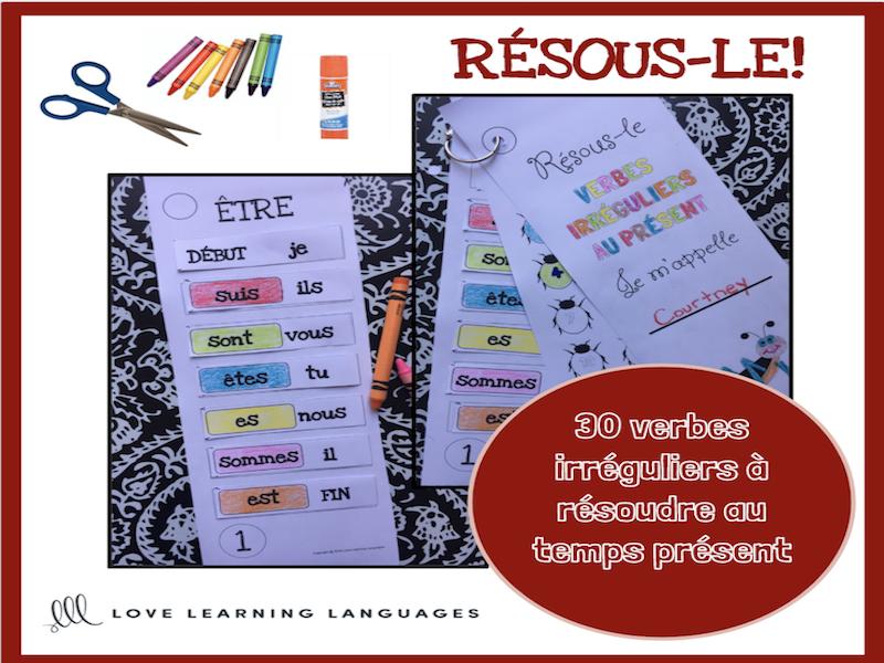 Verbes Irreguliers Au Present 30 Verbes Francais A Conjuguer Primaire Teaching Resources