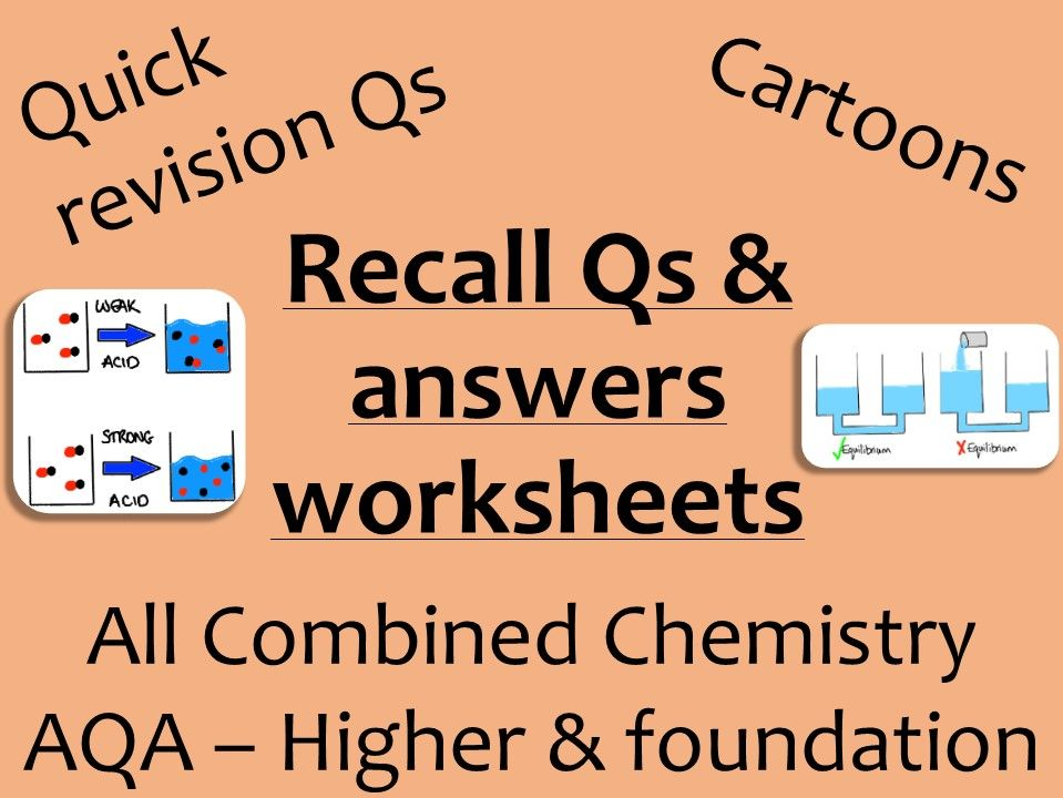 AQA Chemistry GCSE recall Qs - ALL combined