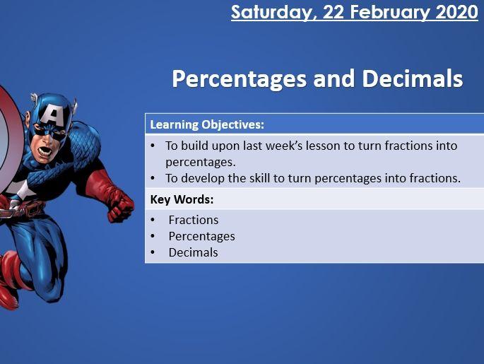 KS2 Maths - Decimals and Percentages