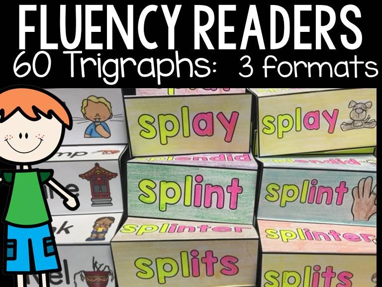 PHONICS: FLUENCY READERS: TRIGRAPHS: INTERACTIVE NOTEBOOK