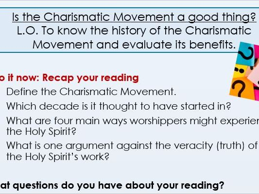 Charismatic Movement A Level 2 lessons