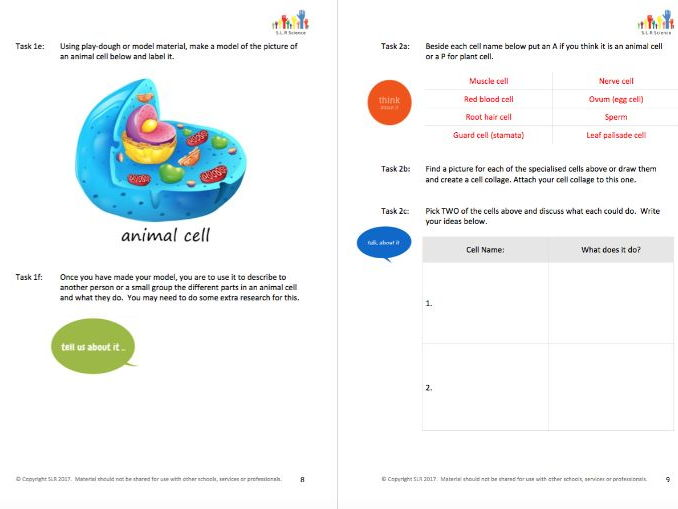 REPRODUCTION - science workbooklet
