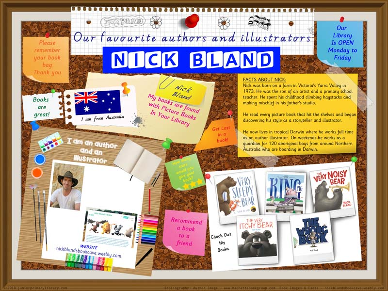 Library Poster - Nick Bland Australian Children's Picture Book Author Illustrator