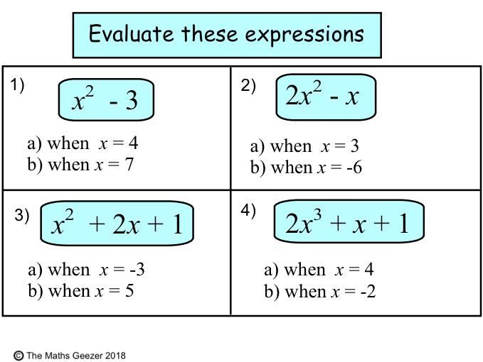 GCSE Algebra Revision