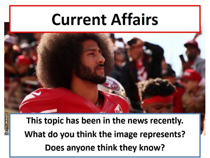 Current Affairs Form Time Activity - NFL Protests