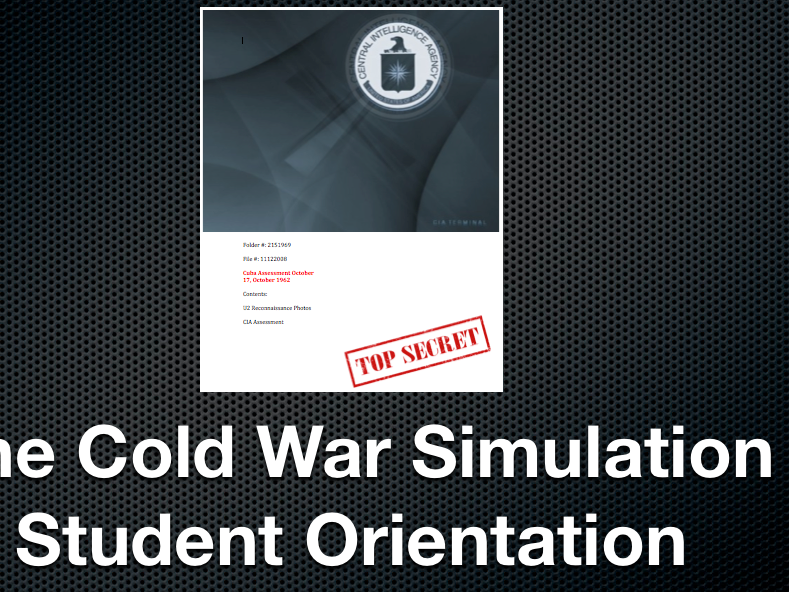 Cold War Simulation Student Orientation Power Point and Keynote Presentations