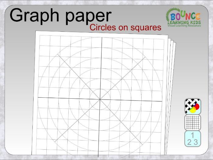 Graph paper - circles on squares