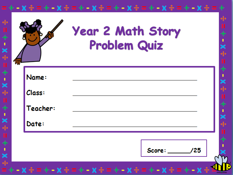 Year 2 problem solving test