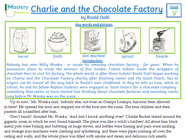 Charlie and the Chocolate Factory by Roald Dahl Comprehension KS2
