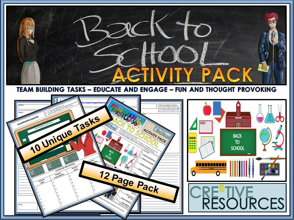 Back to School: Back to School Icebreakers Activity Pack