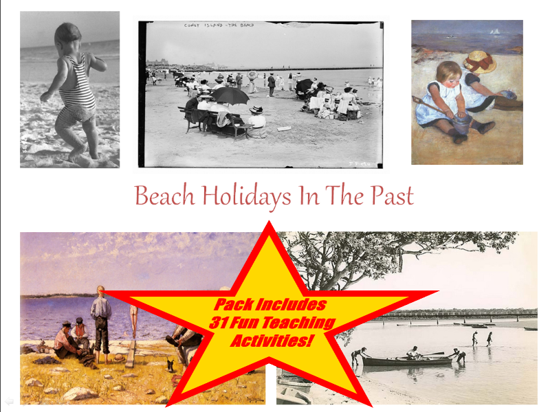 30 Images And Photos Of Beach Holidays In The Past + 31 Fun Teaching Activities For These Cards