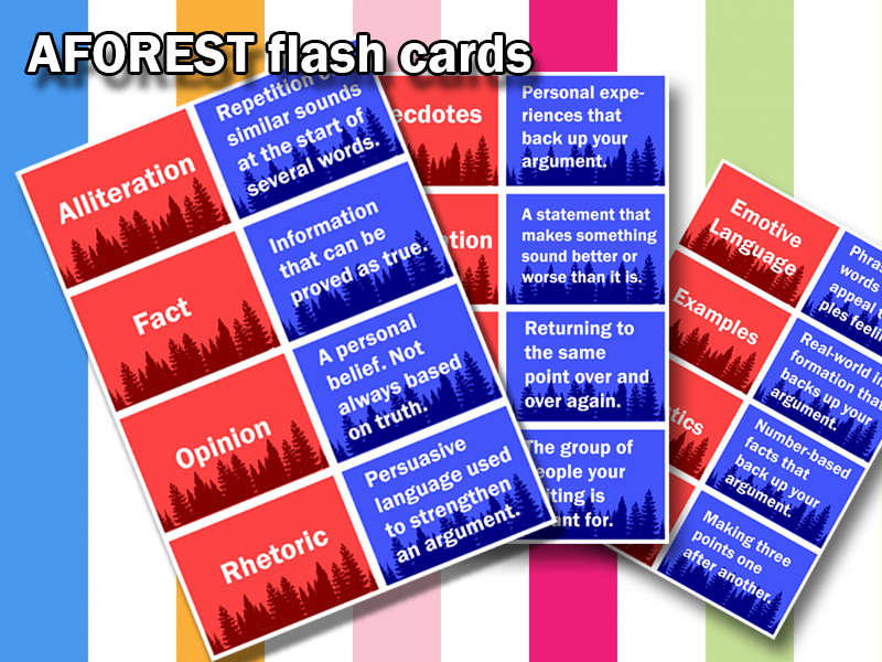 KS4 English GCSE - AFOREST Definition Match